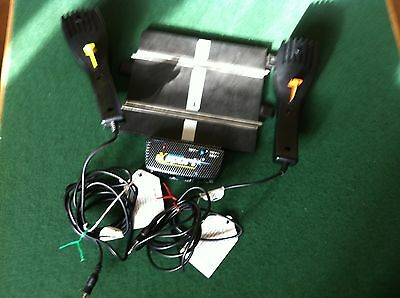 Scalextric power base & 2 hand controllers