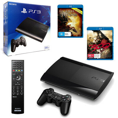 PlayStation 3 New Look 500GB Console + Ultimate Blu-Ray Action Movie Bundle NEW