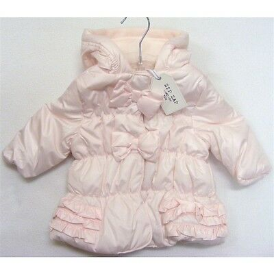 Baby Girl's Zip Zap Pink Cozy Coat with Frilly and Bow/Hooded/Outfit/Warm Winter