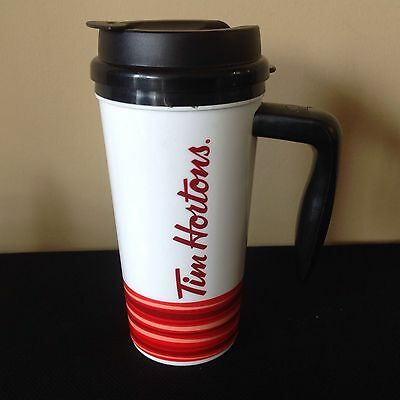 Tim Hortons Coffee Insulated Thermal Travel Mug 16oz Whirley 2015 Handle Cup