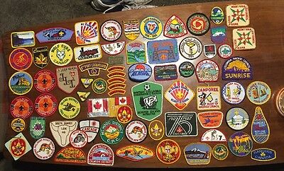 Huge Lot Of 74 Boy Scout Patches 1980's To 1990's. New.