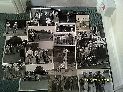 x20 - Old Golf Press Photos - 1940s 1950s Collection Job Lot Black & White