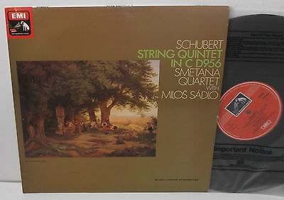 ASD 3676 Schubert String Quintet In C D956 Smetana Quartet  Milos Sadlo Cello