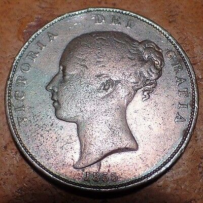Victoria 1855 One Penny In Excellent Condition