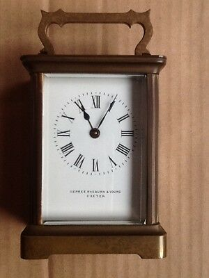 A late 19th/early 20th Century French carriage timepiece