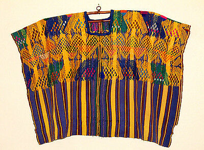Antique Authentic Handmade Guatemalan Embroidered Huipil/Blouse Museum Quality