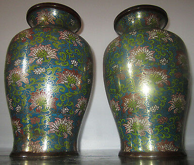 ANTIQUE PAIR OF CHINESE CLOISONNE 19th Century