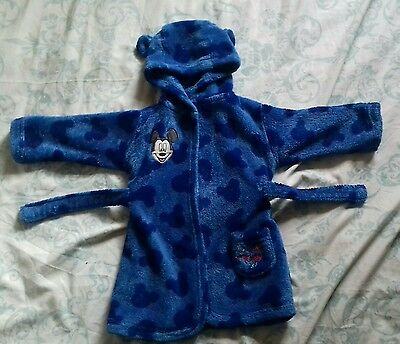 Baby boys dressing gown 6-12 months