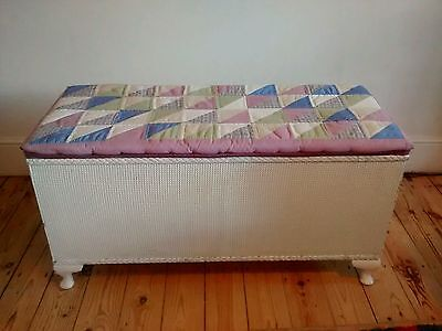 Sirrom padded-top large vintage ottoman/chest/blanket box - loom style
