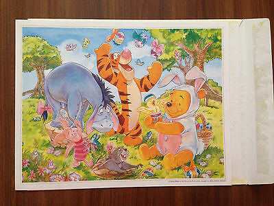 Disney lithograph - Winnie the Pooh Easter - Disney Store Commemorative