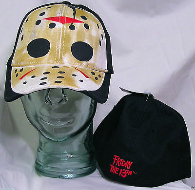 Friday the 13th HAT CAP Jason Voorhees Vorhees Hockey Mask Horror Movie OSFM New