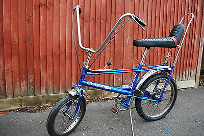 Rare collectable Mk1 Raleigh Chopper 3 speed 1970 in blue - very original vgc