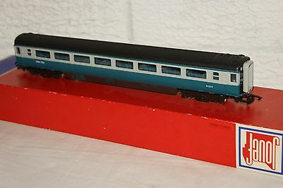 OO gauge EXCELLENT Jouef mk 3 Coach Intercity Blue Grey 2nd class M12004 BOXED