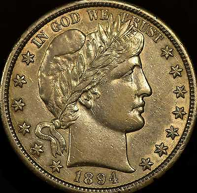 1894-S Barber Half Dollar Choice Almost Uncirculated
