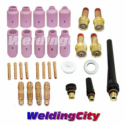 """TIG Welding Torch 17//18//26 All-in-One Kit 040-1//16-3//32-1//8/"""" T28B US Seller Fast"""