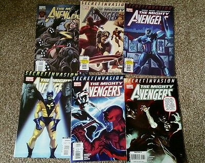 Mighty Avengers issues 11-13, 15-17 bundle Marvel Comics