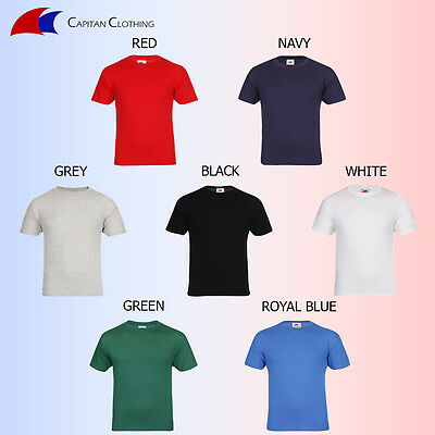 JOB LOT T-SHIRTS PLAIN/BLANK 7 COLOURS 100% COTTON (Sizes XS-XXL)