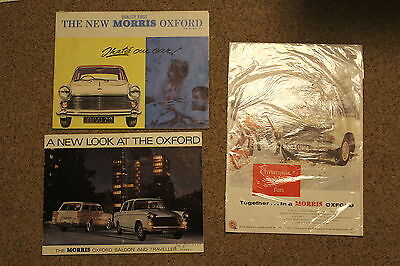Morris oxford brochures x 2 plus one poster.