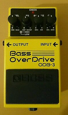 Boss ODB3 bass guitar overdrive effects pedal boxed