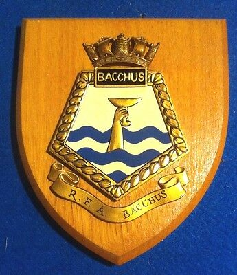 Rfa Bacchus A404 Royal Navy Stores Ship Wall Plaque Excellent Condition