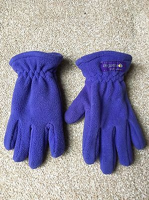 Girls Purple Regatta Gloves Age 4-6