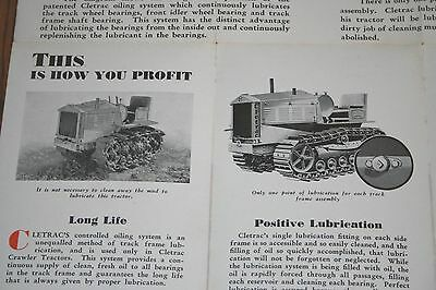 Oliver Cletrac Crawler Advertising Long Life by Continuous Lubrication