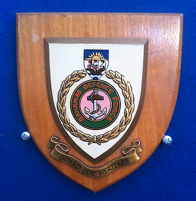 Bahamas Defence Force Wall Plaque In Excellent Condition