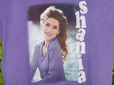SHANIA TWAIN Portrait In Purple 1996 Pigment Dyed Tee