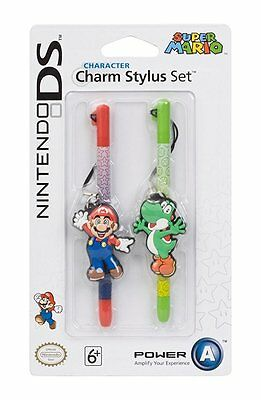 NEW Nintendo Licensed Character Charm Stylus Twin Pack - Mario & Yoshi 3DS  DSi
