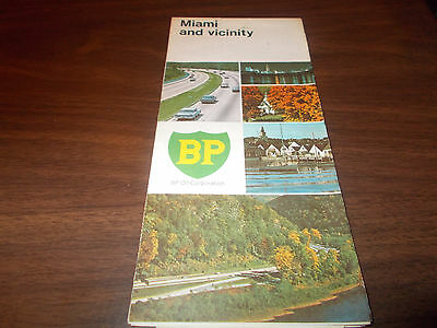 1969 BP Miami and Vicinity Vintage Road Map