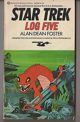 Star Trek LOG Five First Print Filmation Cover Art 1975 Paperback Animated Show