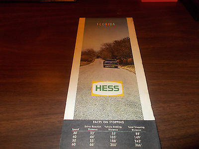 1969 Hess Florida Vintage Road Map