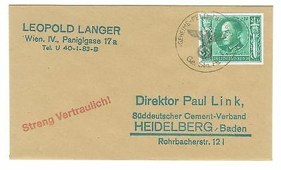 WW2 3rd Reich Never issued stamp on envelop - FAKE - REPLICA