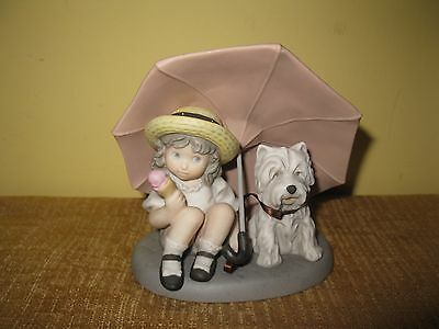 "KIM ANDERSON ""FRIENDSHIP IS A GIFT TO SHARE"" Enesco Dog Terrier FIGURE 1997"