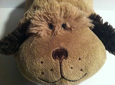 "Original  Pillow Pets Pee Wees ""brown Puppy"" Small Plush Pillow"