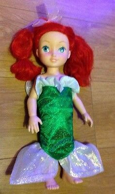 """Disney Store The Little Mermaid Ariel 16"""" Toy Doll Dress Hair - Great Condition"""