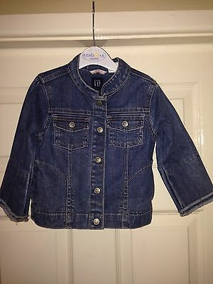 Baby Gap Blue Denim Casual Jacket  - Age 2 years