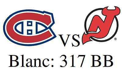 2 E-tickets *WHITES Row BB New Jersey Devils @ Montreal Canadiens December 8