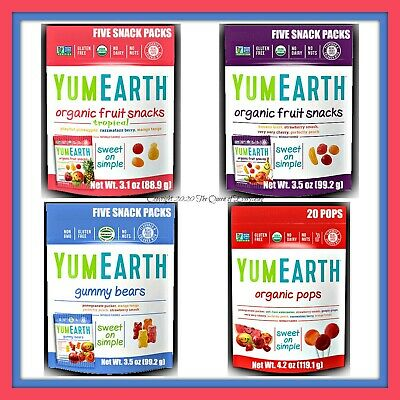 YumEarth Yum Earth Organic Pops Lollipops 9 Styles-- U Choose Gluten Free Vit C