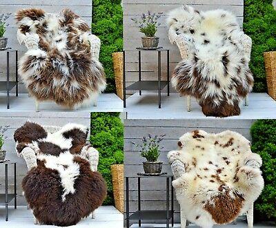 Sheepskin Rug, Very Rare Breed 100% Genuine JACOB  large selection