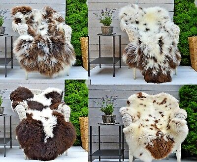 Unique Luxury Sheepskin Rug Hide Rare Breed 100% Genuine Jacob's large selection