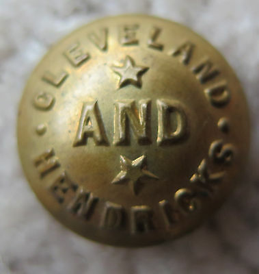 Vintage Cleveland and Hendricks political wearable clothing campaign button