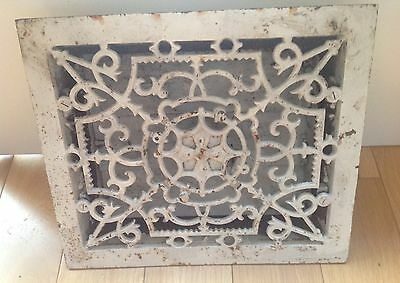 Vintage  Cast Iron Air Vent With A Slide Cover.