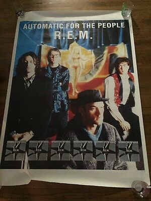 Vintage Giant R.E.M. Automatic For The People Album Poster- Printed In England