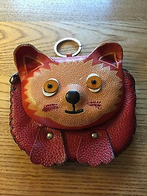 Small Leather Cat Purse