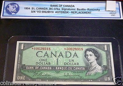 1954 $1Bank Of Canada Asterisk Replacement *I/O