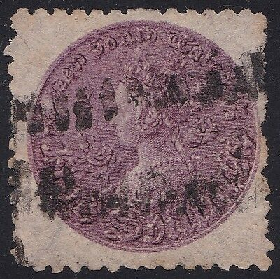 Stamps Australia - NSW 5/ Shillings Coin Stamp Perf 10 - Used.