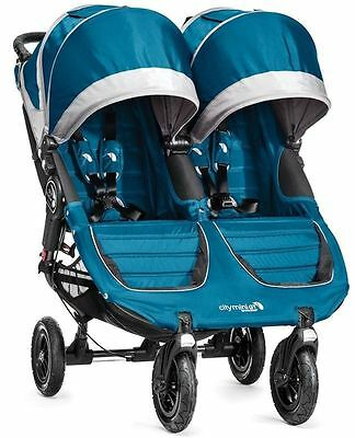 Baby Jogger City Mini GT Double Swivel Stroller Teal/Gray 2016 New In Box