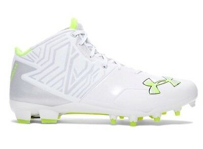 $100 UNDER ARMOUR Mens 10 Banshee Mid MC Lacrosse/Football LAX Cleats 1250088