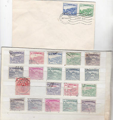 PAKISTAN 1960s Scenes Part sets   11 Post - 8 Officials - 1 FDC  All unchecked